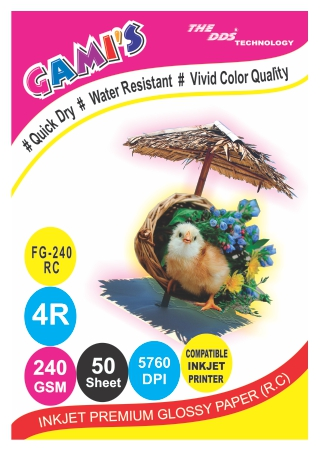 GAMI'S 240gsm 4R RC Inkjet Photo Glossy Paper 4X6(100 sheets)